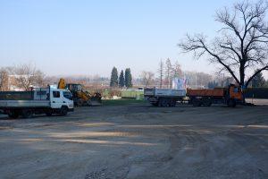 U tijeku radovi na uređenju parkirališta i pristupne ceste kod NK Podravina